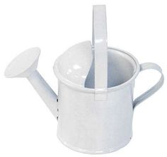 White Metal Watering Can What S New Dollhouse Miniatures Doll Making Supplies Craft