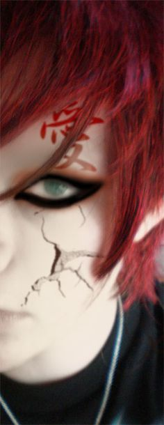 Gaara- At last! Someone who can actually look like Gaara and not a total DORK.