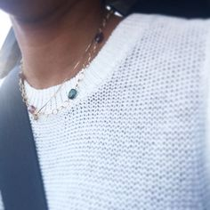 Just got a carfie from a friend of mine wearing my gems. #tourmaline #happyhumpday