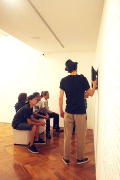 """Ações educativas no 2º semestre de 2013 - Visita à exposição """"Amilcar de Castro - Estudos e Obras"""""""