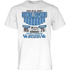 2012 Kentucky Wildcats 8-Time Men's Basketball National Champions T-Shirt