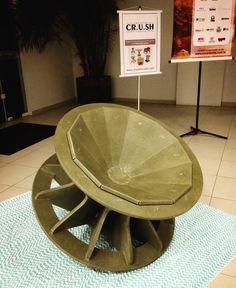 Poltrona Gira Mundo em exposição no Parque Ambiental Tractebel. by projetocrush