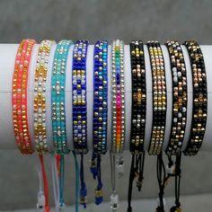 Loom Bracelet Patterns, Bead Loom Bracelets, Bead Loom Patterns, Bracelet Crafts, Jewelry Patterns, Bracelet Designs, Beading Patterns, Seed Bead Jewelry, Beaded Jewelry