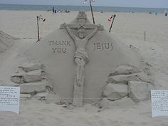 ocean city beach, md  i think this sand sculptor has been there since 1982!