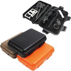 EDC Outdoor Survival Waterproof Equipment Sealed Box Dustproof Pressure-Proof #Unbranded