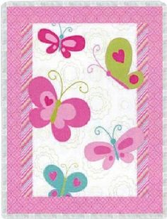butterfly baby quilt kits | Butterfly Nursery 3D Baby Quilt Kit