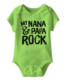 This Key Lime 'Nana & Papa Rock' Bodysuit - Infant is perfect! #zulilyfinds