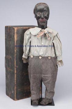 'Cloth doll' - Past Lots - Jeffrey S. Ventriloquist Doll, Fork Art, African American Dolls, Primitive Folk Art, Naive Art, Doll Head, Outsider Art, Antique Toys, Vintage Dolls