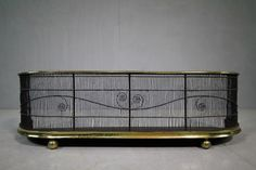 Regency Antique Fire Guard with Scrolling Wire Work