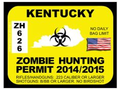 1000 images about zombie hunting permits on pinterest