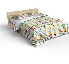 Bavlnene obliecky pre deti s motivom robotov (2) Bed, Furniture, Home Decor, Decoration Home, Stream Bed, Room Decor, Home Furnishings, Beds, Home Interior Design