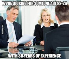 The problem with finding a job.
