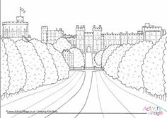 Windsor Castle colouring page