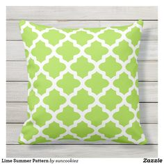 Shop Lime Summer Pattern Throw Pillow created by suncookiez. Personalize it with photos & text or purchase as is! Lime Green Cushions, Green Pillows, Throw Pillows, Lime Green Bedrooms, Bedroom Green, Key Lime, Green Home Decor, Dressing, Summer Patterns