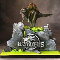 Spinosaurus cake for Daniel. Chocolate cake with blueberries. Spinosaurus, Dino Cake, Dinosaur Birthday Cakes, Dessert Decoration, Cakes For Boys, Fondant, Cake Decorating, Christmas Ornaments, Blueberries