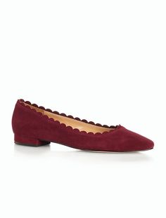 Talbots - Edison Scalloped Suede Pointy-Toe Flats | |
