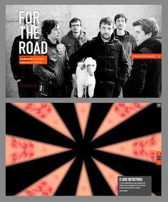 ♥♥♥ Fortheroad — Magazine avec  Image ou video (youtube) pleine écran. Simple agréable, c'est beau comme de la télé, imaginons un Centrepompidou-mag tel que ce site !
