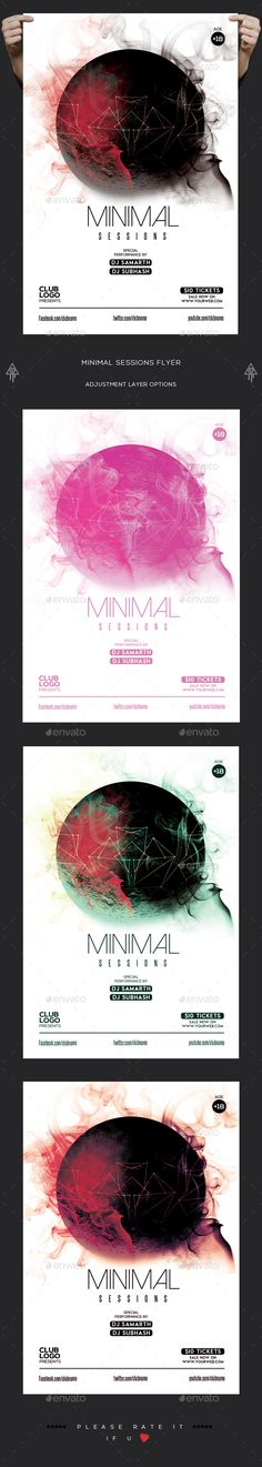 Minimal Flyer Template  — PSD Template #trance #shapes • Download ➝ https://graphicriver.net/item/minimal-flyer-template/18202781?ref=pxcr
