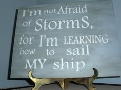 "Excellent quote for the day of the ""worst storm of all time."" :P"