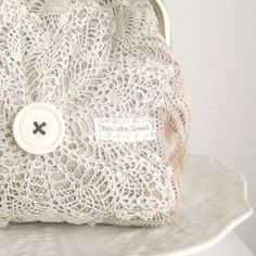 Doily purse love love love.......................