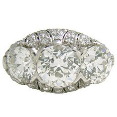 Art Deco three stone ring