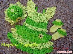 DE  MIS  MANOS  TEJIDOS  Y  MAS...: Lindo vestidito verde