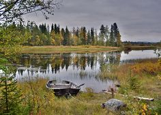 Total peace and tranquility- a splendidly composed and very beautiful Lappland landscape image!!