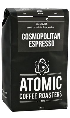 Atomic Cafe Cosmopolitan Espresso Blend Medium Roasted Whole Bean Coffee Central America Caribbean 5 Pound Bag ** Details can be found by clicking on the image. Espresso Coffee, Best Coffee, Cosmopolitan, Coffee Beans, Earthy, Gourmet Recipes, Book Lovers, Roast, Central America