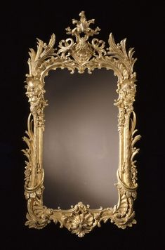 Pair of Carved Giltwood Mirrors in the Manner of Matthias Lock CIRCA 1745
