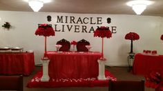 Red and Black Wedding head table