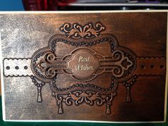 Embossed card - used gilding wax