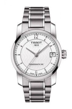 c786185e53c0 Tissot Titanium Women s Automatic Silver Dial Watch with Titanium Bracelet