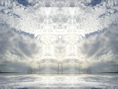 CloudScape. Spritely smiles. Mirrored cloudy sky.