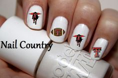 50pc Texas Tech Football Nail Decals Nail Art Nail Stickers Best Price NC269