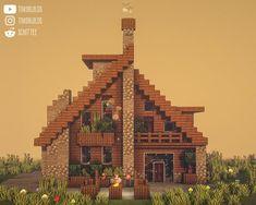 Minecraft Mansion, Minecraft Cottage, Minecraft Castle, Cute Minecraft Houses, Amazing Minecraft, Minecraft Blueprints, Minecraft Crafts, Minecraft Stuff, Minecraft House Tutorials