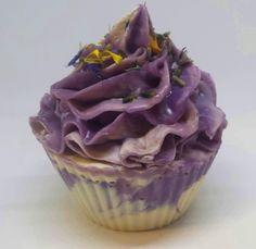 Lavender cupcake soap