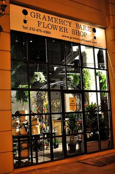 Gramercy Park Flower Shop.  NEW YORK CITY.