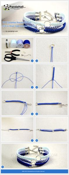 DIY Friendship Bracelet Tutorial - How to Braid Triple Paracord Bracelets || not paracord, but cute accessory idea.