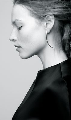 Jennifer Fisher   Tusk Earring with Pavé White Diamond Stripe