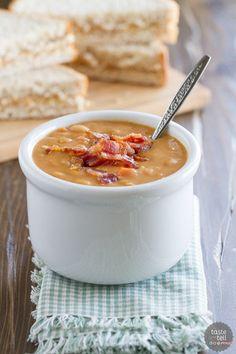 Homemade Bean and Bacon Soup - 25+ recipes starring bacon - NoBiggie.net