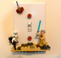 Lightswitch cover- for my star wars kitchen Light Switch Plates, Light Switch Covers, Kids Rooms, Kids Bedroom, Star Wars Kitchen, Legoland, Clay Ideas, Nerd Stuff, Xmas