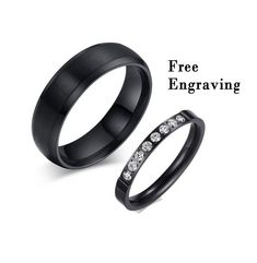 Promise rings for couples,Wedding ring set his and her, couples ring anniversary gifts for men,couples gift boyfriend, Wedding Rings Sets His And Hers, Matching Promise Rings, His And Hers Rings, Promise Rings For Couples, Matching Rings, Rings For Men, Black Rings For Him, 10th Anniversary Gifts, Promise Rings