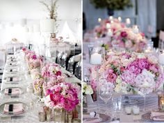 Romantic Wedding Table Setting With Masses of Roses | Style Me Pretty