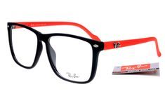 Ray-Ban Square 2428 Black Red Frame Transparent Lens RB1131 [RB-1140] - $27.30 : cheap sunglass, Ray Bans outlet