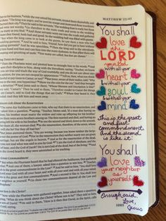 Love God, Love Others:  Journaling the Bible