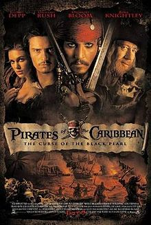 Pirates of the Caribbean(2003)Directed by Gore Verbinski ,Rob Marshal.Starring Johnny Depp,Geoffrey Rush ,Kevin McNally, Orlando Bloom, Keira Knightley , Penelope Cruz. The plot of the first film takes viewers to the small port town. Young Elizabeth Swann damsels waiting is not the first year that pleasing her man finally admits his feelings. The complex is the case when the chosen one - a daughter gubernatora.I here in the city showed up pirate Jack Sparrow.12+