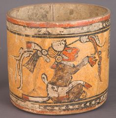 Vase, ca. 800 CE Maya Ceramics; Made in Chama, Guatemala =
