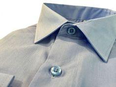 Купить Мужская рубашка голубого цвета однотонная в интернет магазине мужской одежды OTOKODESIGN