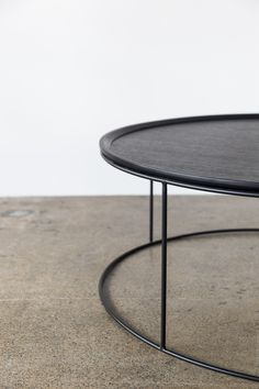Detail of our Freda Black Coffee table that is simple and refined. From our Design Kiosk collection. Black Coffee Tables, Round Coffee Table, Corporate Interiors, Commercial Interiors, Kiosk, Minimal Design, Furniture Design, Interior Design, Simple