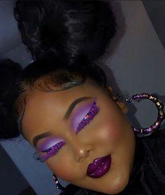Glitter Makeup Looks, Makeup Eye Looks, Eye Makeup Art, Pretty Makeup, Skin Makeup, Beauty Makeup, Dope Makeup, Baddie Makeup, Makeup Inspo